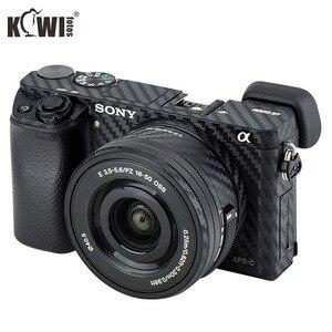 Image 1 - KIWIFOTOS กล้องคาร์บอนไฟเบอร์ฟิล์มสำหรับ Sony A6000 + 16 50 มม.เลนส์ป้องกัน scratch Anti SLIDE กล้อง 3M สติกเกอร์
