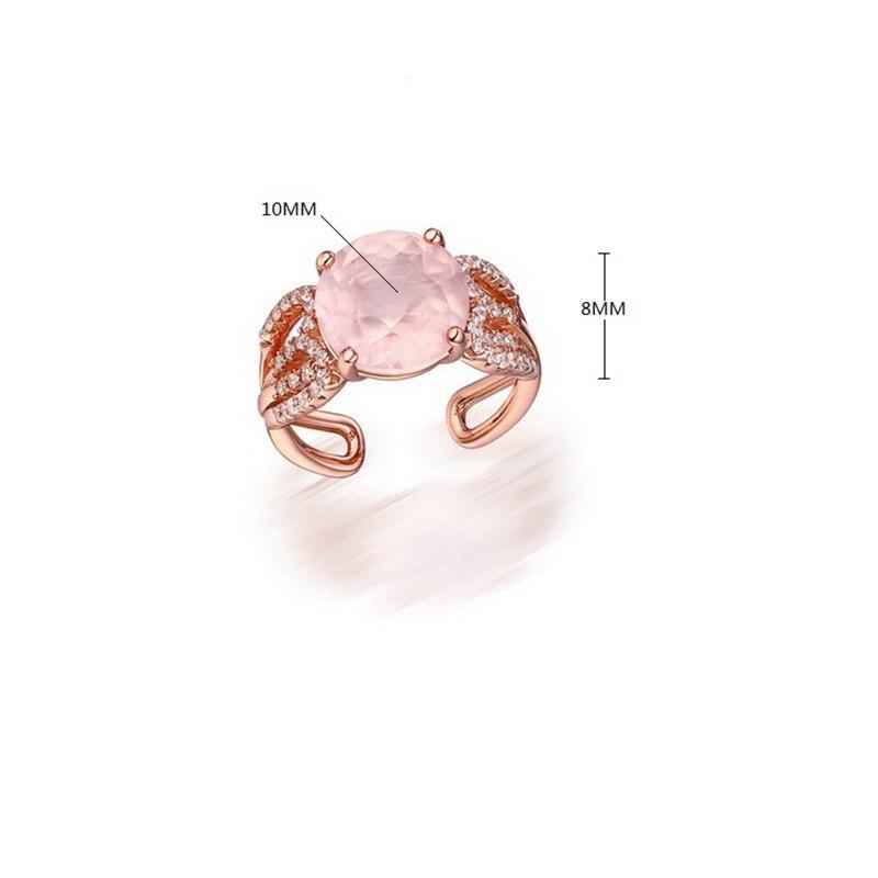BESTLYBUY bague en pierre naturelle S925 bagues en argent pour femmes bijoux 925 en argent Sterling anillos mâle livraison gratuite - 2