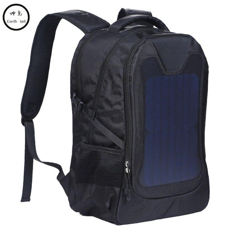 Original waterproof 5V Solar Battery Charging Business Travel Backpacks Bags Tourism Solar Panel USB Output Charger computer bag