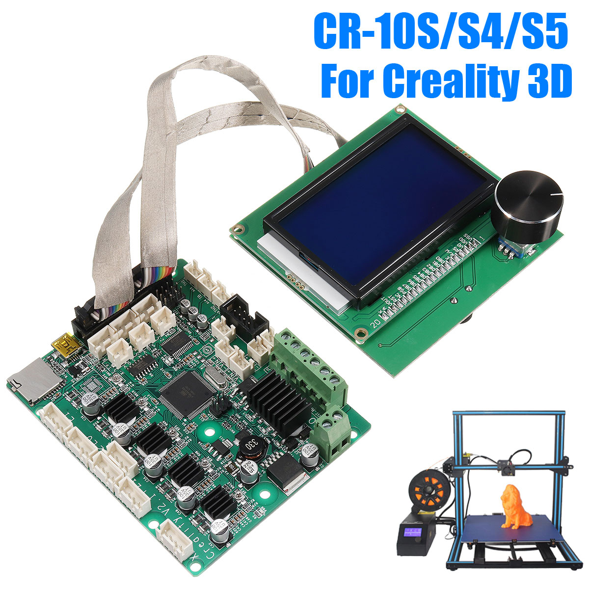 Creality 3D CR10 3D Printer Mainboard Control board With LCD Screen