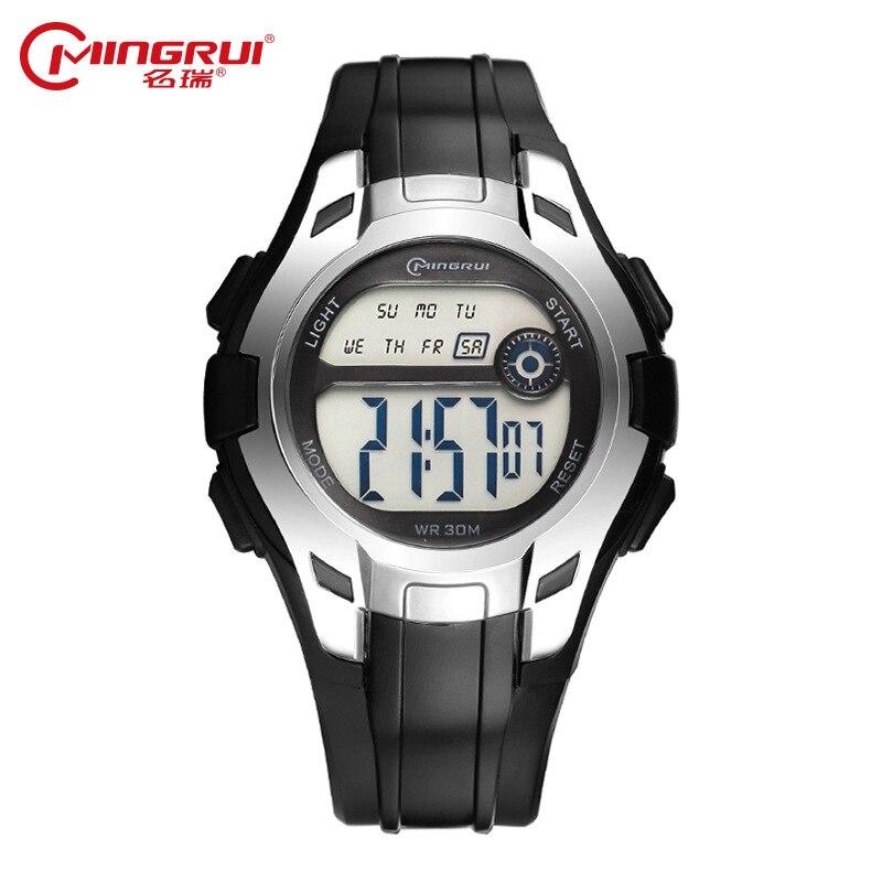 LED Watch Clock Girl Hour Waterproof Silicone Sport Luminous Children Relojes Alarm Gift