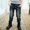 Детская одежда ребенок мужского пола джинсы брюки весна и осень 8 ребенок джинсы зима мужской большой мальчик брюки случайные штаны для 5-13
