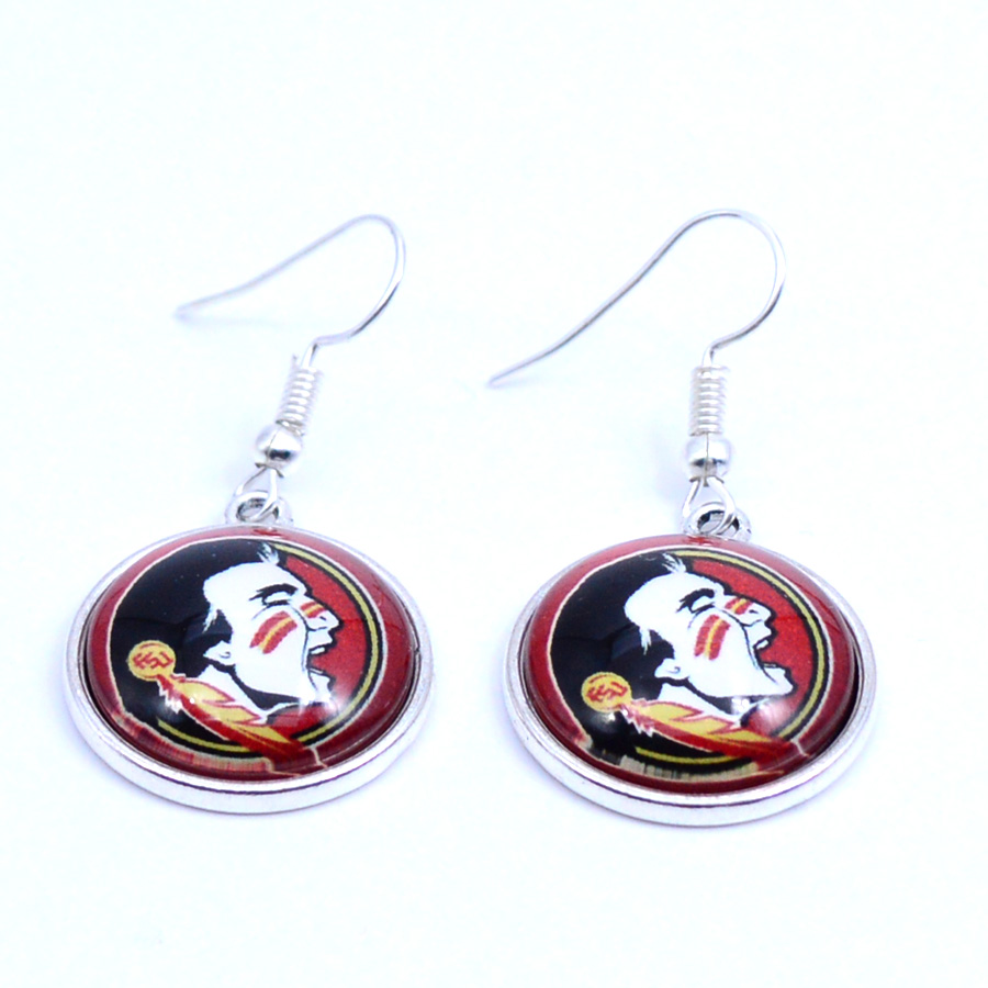 Earrings NCAA Florida State Seminoles Charms Dangle Earrings Sport Earrings Football Jewelry for Women Birthday Party 5 pairs