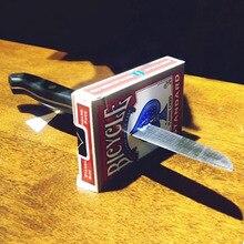 Ножи thru металла-Чудесный Проникновение 2,0 фокусы монеты маг закрыть иллюзии трюк реквизит комедии аксессуары