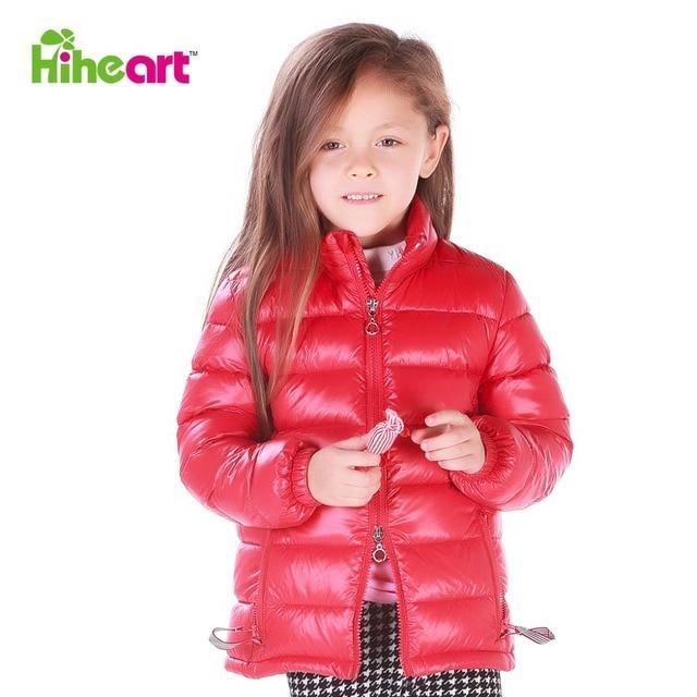 HIHEART 2015 весна новая коллекция детский легкий тонкий пуховик детская верхняя одежда мальчик девочка парка опт дети натуральный пух модная детская одежда