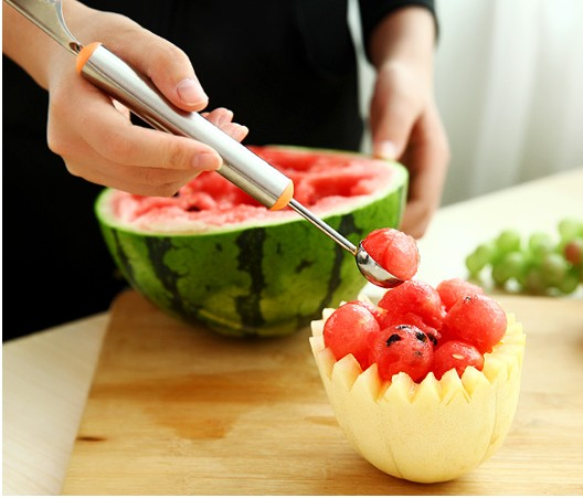Creative Stainless Steel Melon Scoops Ballers Fruit and VegetableTools Icecream Spoons Lazy Life Supplies DEC085