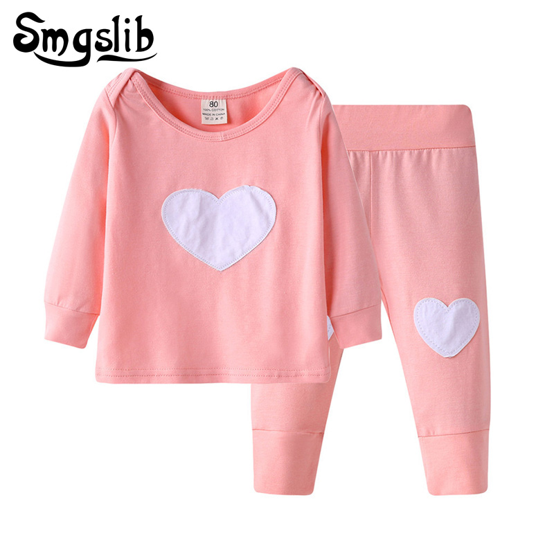 Baby girl clothes pink red long sleeve cute suit Tops Casual Pants newborn baby boys clothes set outfit childrens costume kids