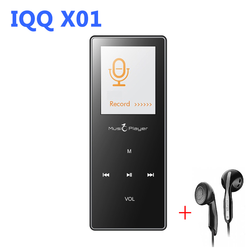 Ultrathin Touch Screen HIFI mp3 Player Bluetooth Aluminum Alloy IQQ X01 with FM Voice recording Audio