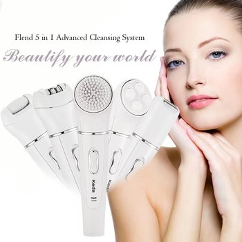 UKLISS Electric Facial Cleansing Brush 5 in 1 Facial Brush Face Skin Care Cleaning Wash Brush SPA Facial Beauty Electric Face Cleanser