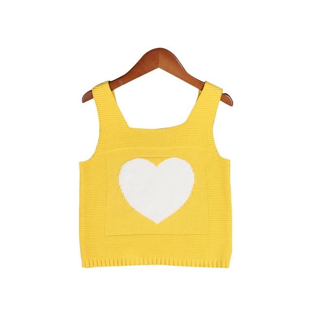 New Kids Girls Vest Cotton Baby Girl Waistcoat Heart Toddler Girl ...