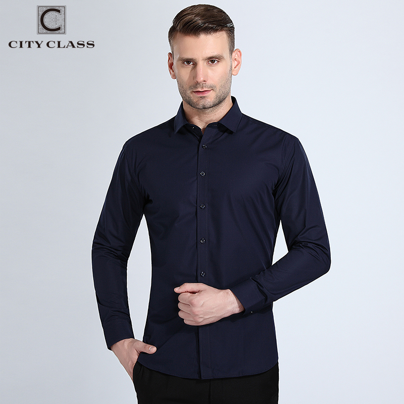 Dudalina Shirt Men New Design 2019 Spring Button Collar Long Sleeve Casual Shirts Oxford Breathable Slim