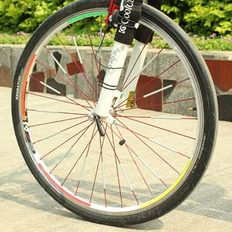 12Pcs MTB Mountain Bike Wheel Rim Spoke Mount Clip Tube Warning ...