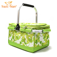 Outdoor Waterproof Oxford Picnic Basket Keep Cold Hot Food Storage Bags Lunch Bags Picnic Basket Tableware W/Aluminium Backing