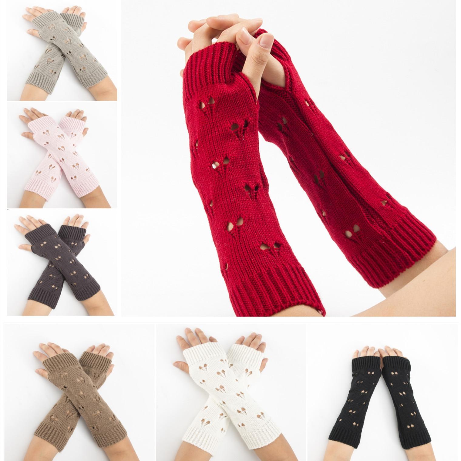 Damen-accessoires Herrlich Neue Winter Jacquard Gestrickte Pullover Warm Arm Set Mid Länge Ski Handschuhe Hohe Qualität Frauen Arm Wärmer 1 Paar