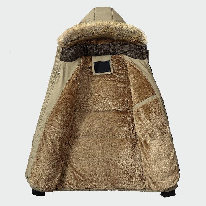 Veste d'hiver hommes marque vêtements décontracté mince épais chaud hommes manteaux Parkas avec capuche longs pardessus hommes vêtements ML026 - 5