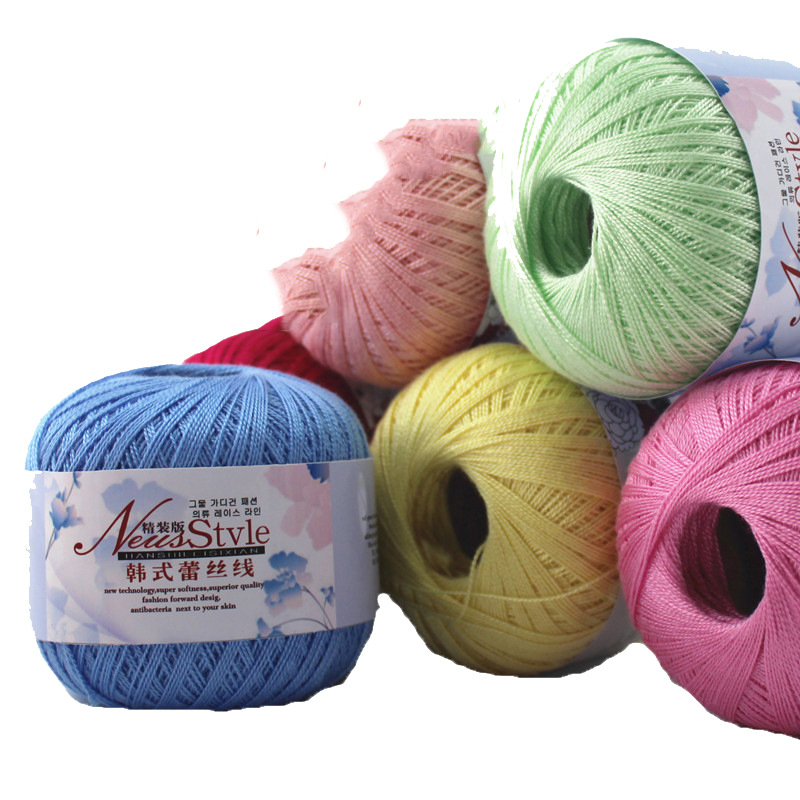 200g/lot  High Quality Lace line crochet cotton yarn baby wool Eco-Friendly