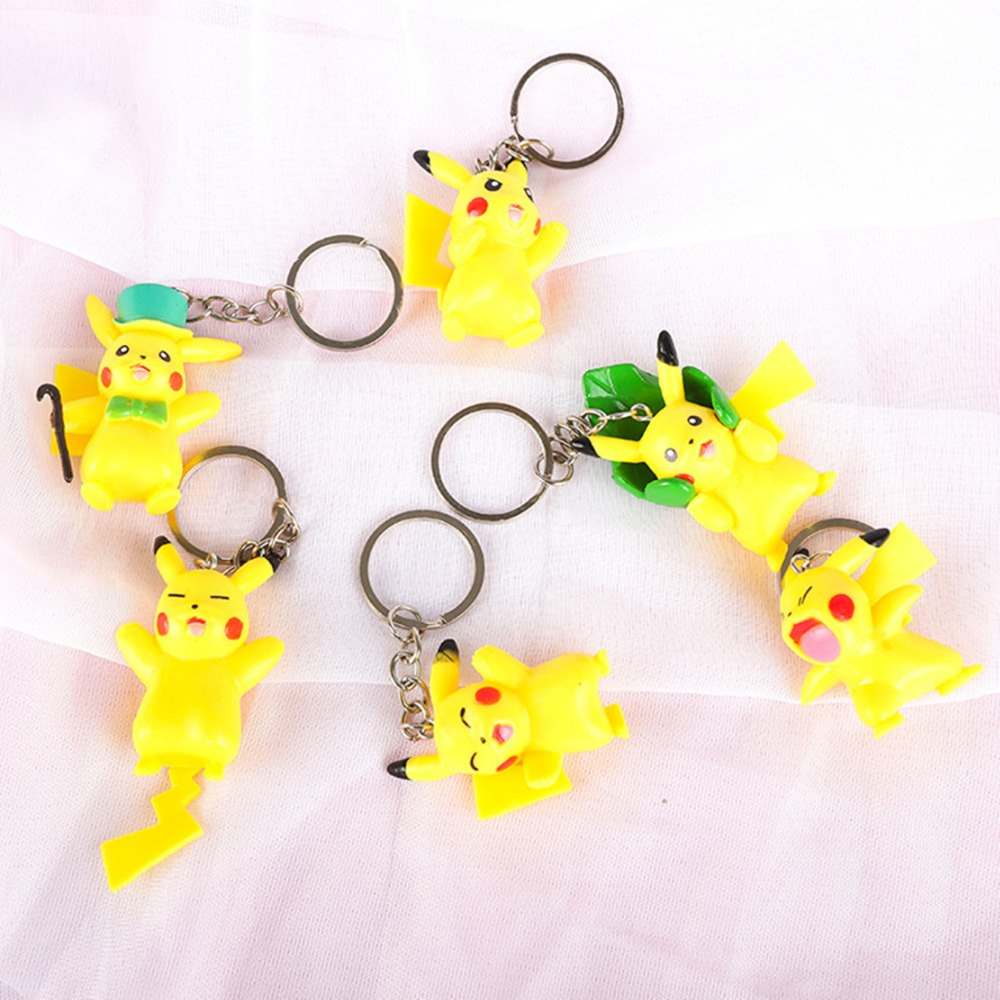 cartoon-font-b-pokemon-b-font-pikachu-cosplay-keychain-fashion-cute-funny-metal-pendant-porte-clefs-brelok-do-kluczy-acessorios-kids-toys-gift