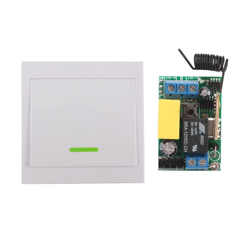 Wireless Remote Control Switch AC 220V Receiver Wall Panel Remote Transmitter Hall Bedroom Ceiling Lights Wall Lamps Wireless TX ac 250v 20a normal close 60c temperature control switch bimetal thermostat