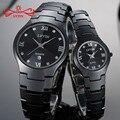 Lvyin керамические парные часы  роскошные черные часы для влюбленных женщин и мужчин  Relojes Hombre с коробкой  кварцевые часы с календарем Ly011