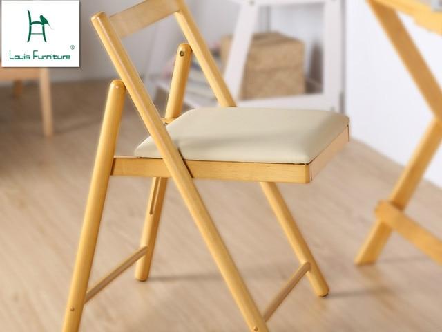Madera maciza Silla de comedor silla mesa plegable cómodo Hogar ...