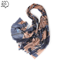 Luxury Brand wool Cashmere Scarf Shawl All match Antumn And Winter Scarf For Women Winter Print Satin Head Scarves Large Shawls