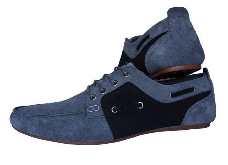 ФОТО european and american style Herrskor Flats men gray leisure shoes crocodile shoes men Cow Split Breathable 5 colors 39-47 size