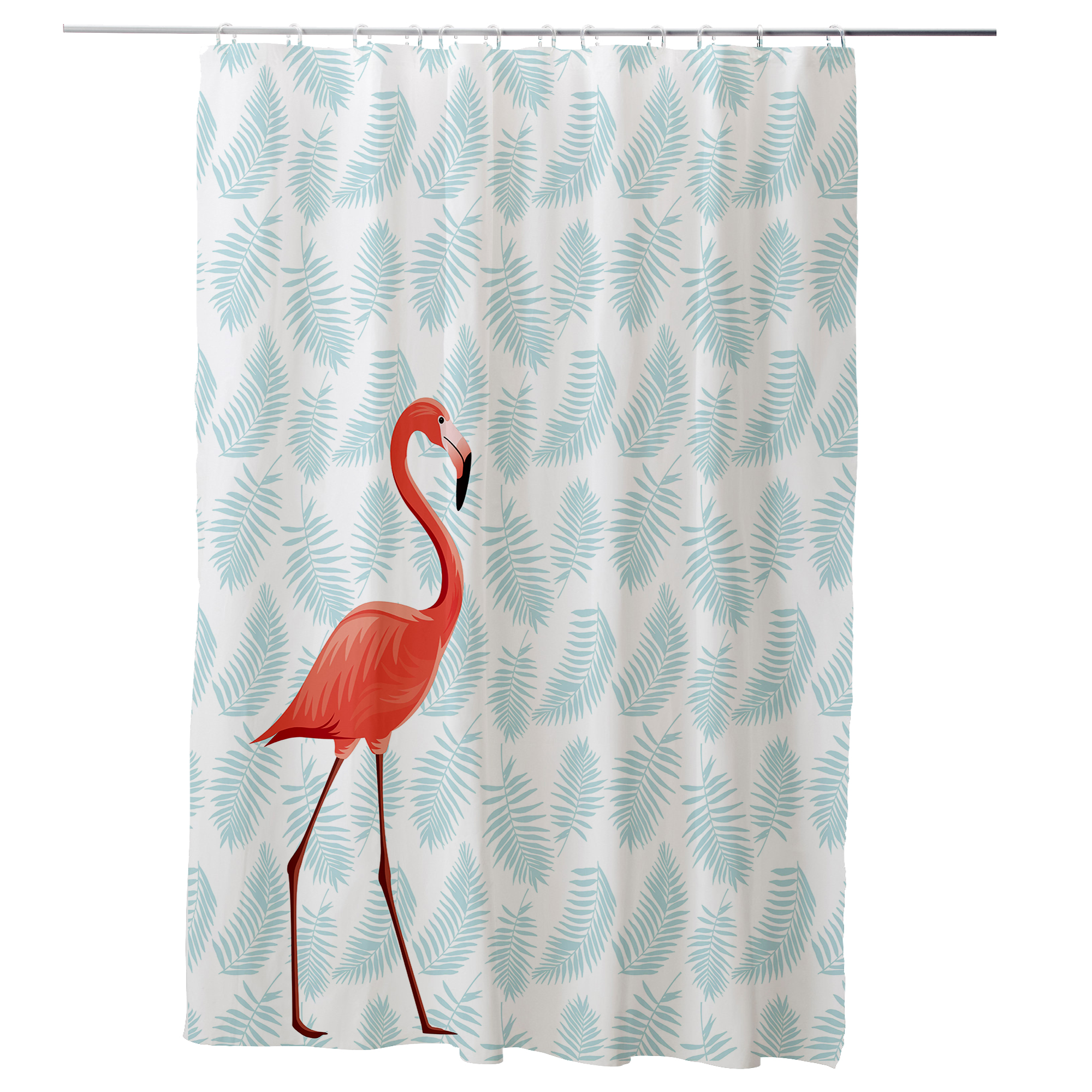 Us 17 28 46 Off 180cm 200cm Flamingo Bathroom Waterproof Mildew Proof Shower Curtain With Curtain Hooks Rings In Shower Curtains From Home Garden