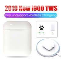 Original i900 TWS Pop up Touch control Bluetooth 5.0 headset 6D bass Wireless Earphones PK i300 i200 i100 i500 i12 i10-i1000 tws