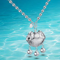 Hot style!!!925 Sterling Silver Charm Cross Pendants Necklace; women Popular jewelry;Joker fashion; brand jewelry;Necklaces wind