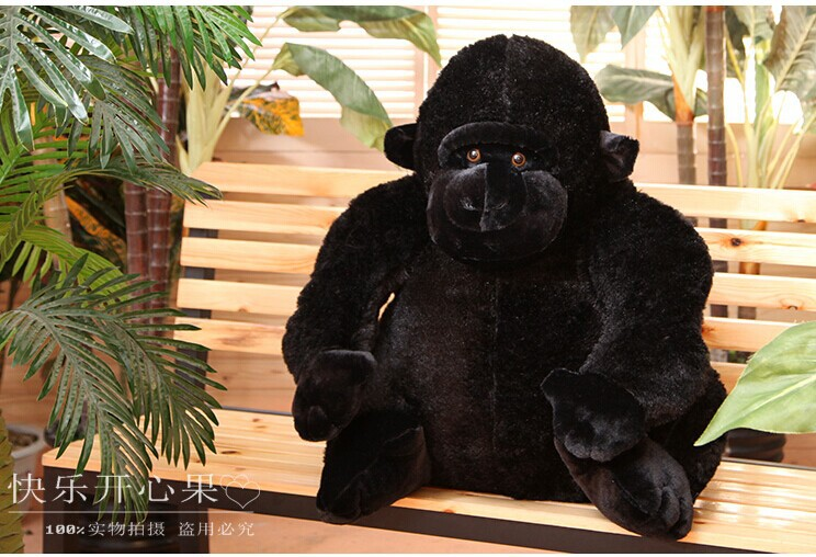 все цены на black orangutan 75x85cm chimpanzee plush toy black king kong doll gift w4663 в интернете
