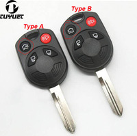 4 BUTTONS KEYLESS REMOTE FOB KEY SHELL FOR FORD EDGE RAPTOR ESCAPE REPLACEMENT CASE