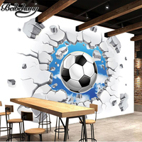 Cold Soccer Photo Wallpaper 3D Wall Passion Wallpaper For The World Cup Soccer World Children Decoration