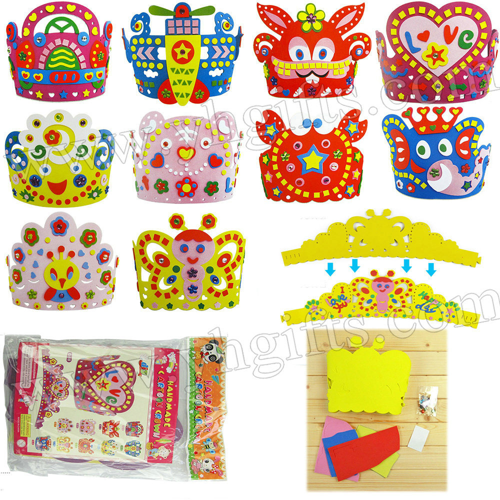 Craft kits for preschoolers - Childrens Craft Kits Arts And Crafts Kits For Kids Handmade Animal Crown Craft Kits Kids