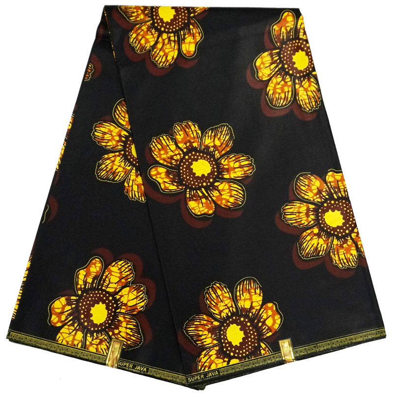 brown color 100%cotton veritable wax block prints African real wax super quality guranteed 6yds ankara fabric printed wholesale