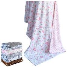 Одеяло для ребенка детские плюшевые одеяло мягкое carseat одеяло двойной minky детская подстилка для девочек и мальчиков