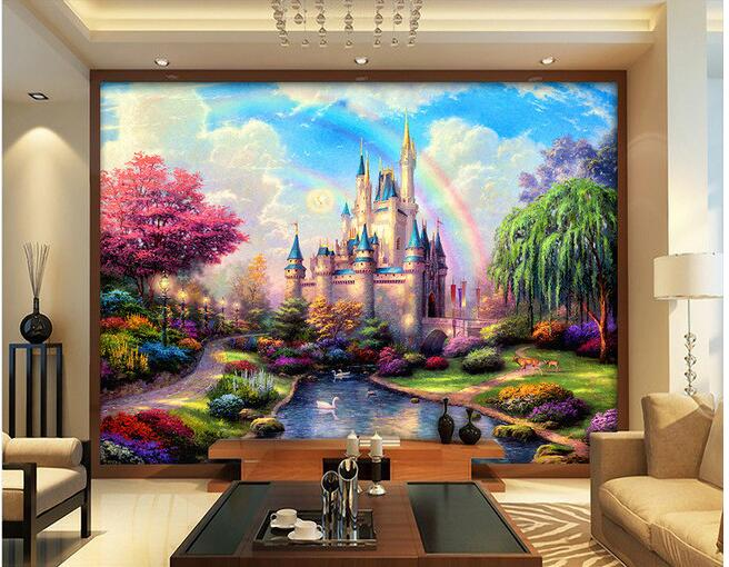 3d room wallpaper custom mural non woven high definition for Fairy castle mural