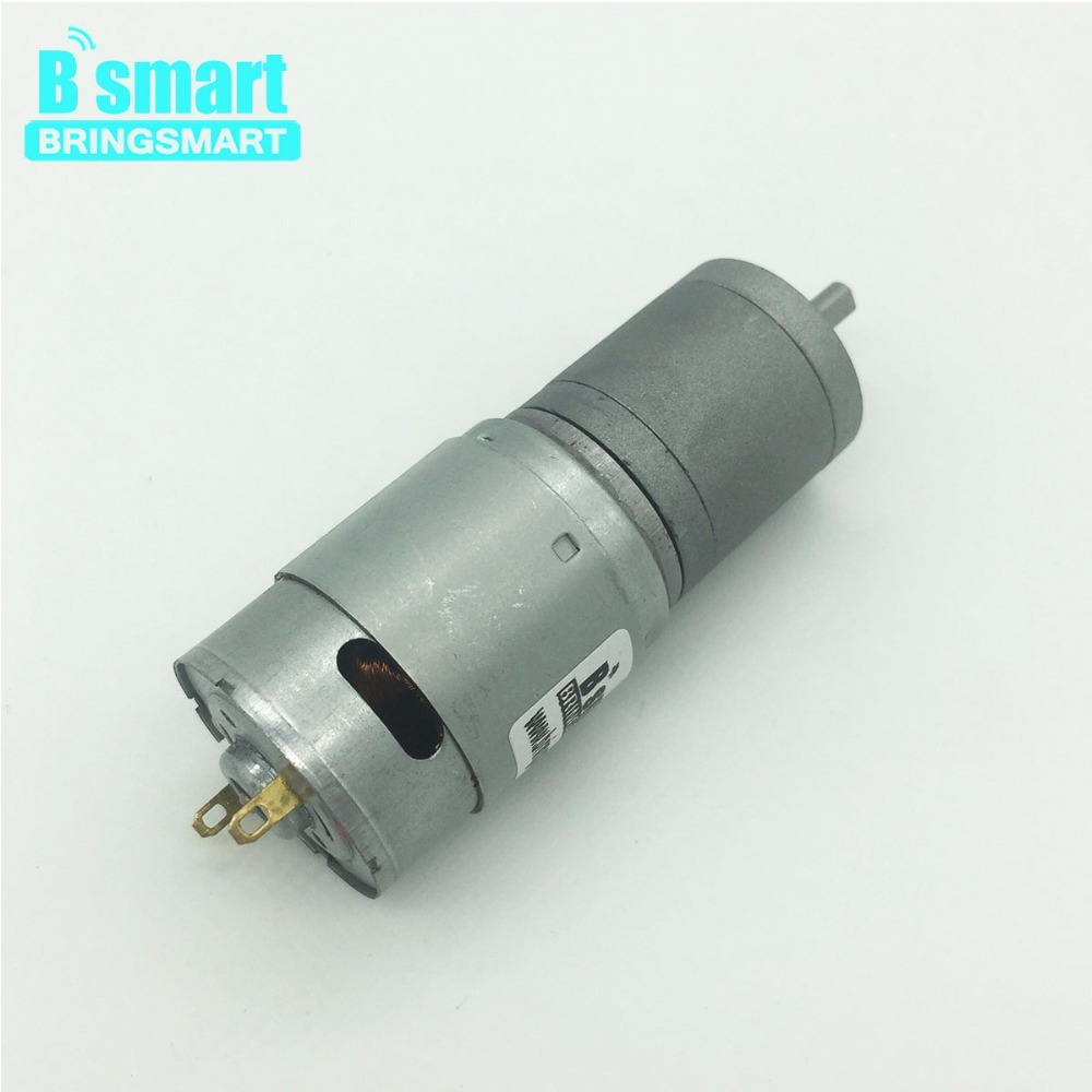 цена на Bringsmart JGA25-385 24V Dc Gear Electric Motor Micro Gearbox Engine High Torque Reversed Round Shaft Low Speed Mini DC Motor