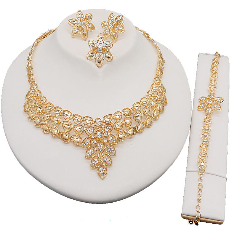 african gold jewelry sets best quality jewelry sets high fashion jewelry sets wedding accessories fashion necklace