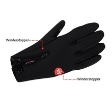 Men's Classic Leather Black Military Army Winter Gloves