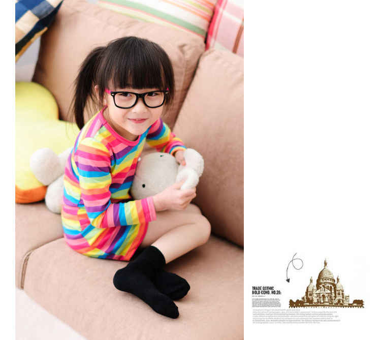 ילדים בייבי בנות קשת פסים שמלה מזדמן ארוך שרוול חמוד קו מיני שמלות בגדים
