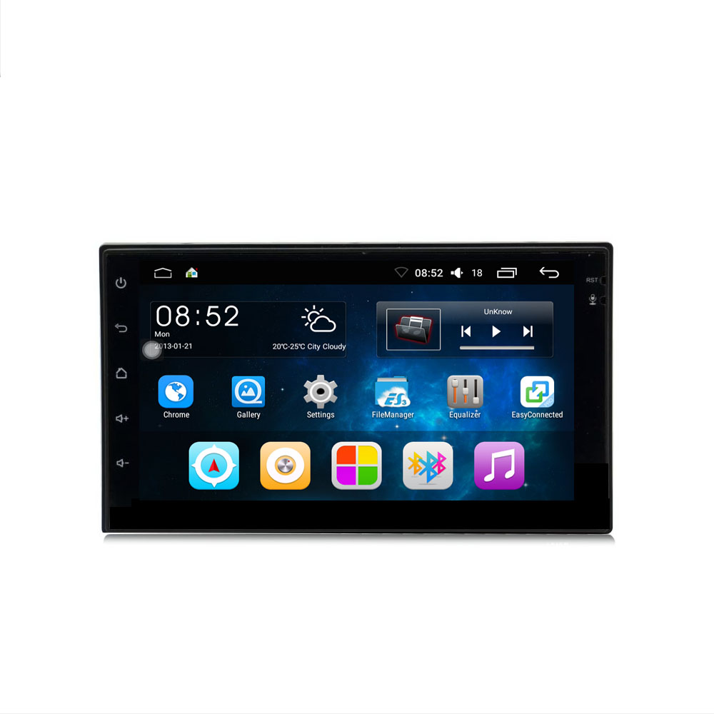 Rectangle 2 Din 7inch Universal Android 6.0 Car Multimedia Player MP5 Bluetooth WIFI GPS Remote Control Car Audio Radio Stereo 9 inch car headrest mount dvd player digital multimedia player hdmi 800 x 480 lcd screen audio video usb speaker remote control