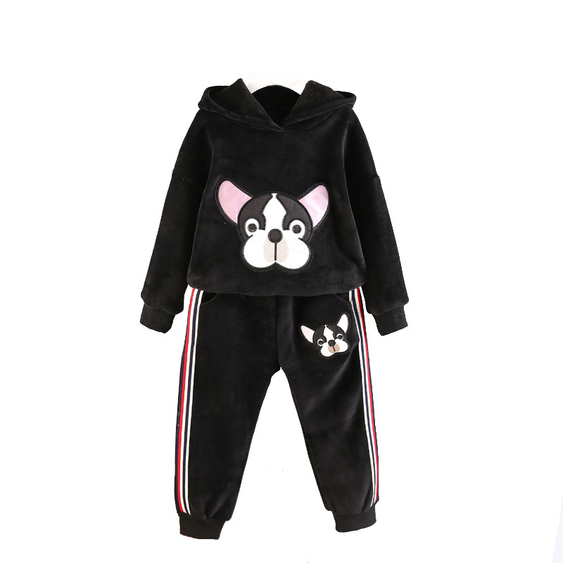 Baby Girls Clothes Suits Sport Costumes For Boys Pullover Coat Elastic Trousers Kids Outfits Winter Children's Clothing Sets 2017 new autumn boys girls clothing set winter cartoon 3 piece sets children sport coat suits cotton baby kids clothes outfits