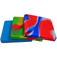 2pcs FDA Pizza storage Dab wax Silicone deep dish container or Non Stick Slick oil/hash/butane oil bho Silicone container Jar