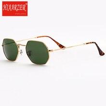 High Quality Real Glass Lens Hexgona Sunglasses Women Men Retro Female G15 Sun Glasses Luxury Mirror Goggles UV400 Gafas De Sol