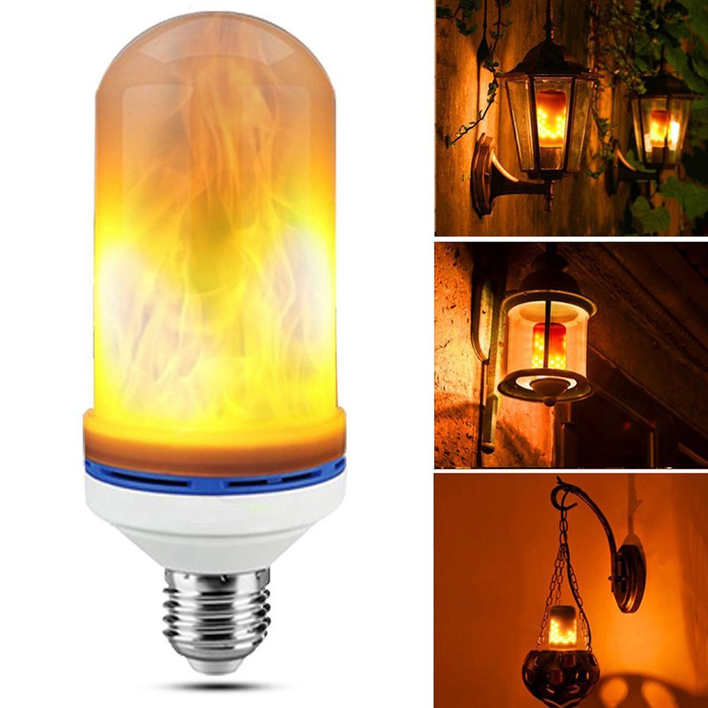 E26 LED Flame Bulb Flickering Flame Effect Simulated Flame Light Decorative Light for Hotel/Bars/Home/Restaurants e26 led flame bulb flickering flame effect simulated flame light decorative light for hotel bars home restaurants