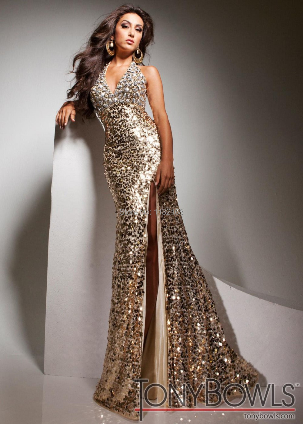 Gold Metallic Prom Dresses