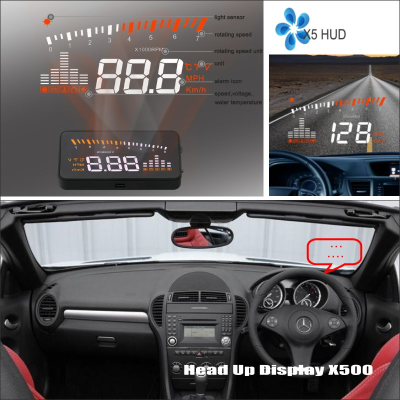 купить Car Information Projector Screen For Mercedes Benz SLK R171 2004~2011 - Safe Driving Refkecting Windshield HUD Head Up Display по цене 3580.07 рублей