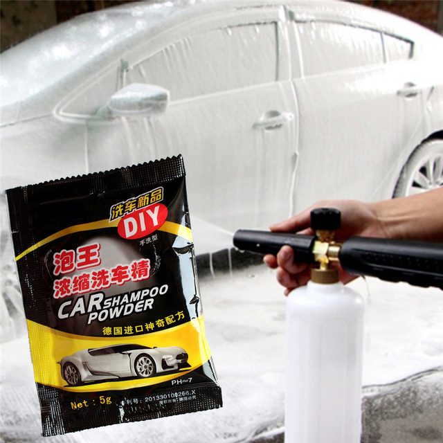5PCS Car Wash Shampoo Universal Cleaning Car Shampoo Multifunctional Cleaning Tools Car Soap Powder Car Windshield Powder