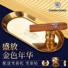 Luxury Design Holder 1 Cigar Transparent Pattern Austrian Crystal Cigar Ashtray W/ Original Box nice