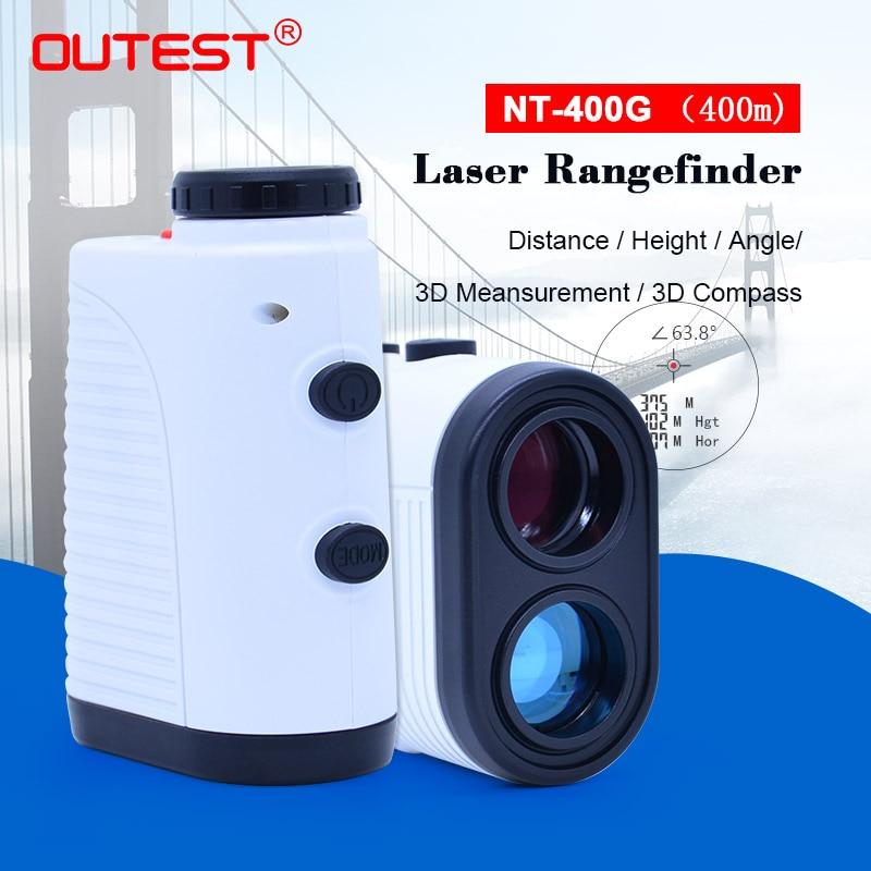 OUTEST Golf Laser Rangefinder Hunting 400M 7X Telescope Laser Distance Meter Monocular Laser Range Finder Tape Measure Roulet